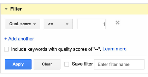 Google AdWords внести зміни в звіти по показнику якості